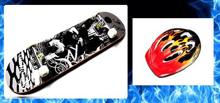 СкейтБорд деревянный  best of xip xop + шлем