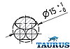Круглый мини ТЭН TERMA REG2 chrome с кнопкой питания для полотенцесушителя (термостат 60С) 200-600W, фото 5