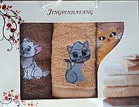 Подарочный набор полотенец Кошечки, фото 1