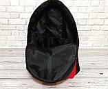 Новинка! Молодежный рюкзак суприм, Supreme. Черный с красным., фото 3