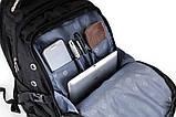 Вместительный рюкзак SwissGear Wenger, свисгир. Черный. + Дождевик. 35L / s6022 black, фото 4