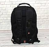 Вместительный рюкзак SwissGear Wenger, свисгир. Черный. + Дождевик. 35L / s6022 black, фото 5