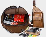 Сумка-рюкзак на одно плечо, кобура, слинг Jeep Buluo. Черная / J 601 black, фото 6