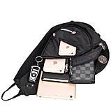 Сумка-рюкзак на одно плечо Swissgear Bag Wenger, свисгир.Слинг, sling. Черная, фото 3