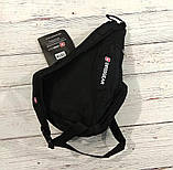 Сумка-рюкзак на одно плечо Swissgear Bag Wenger, свисгир.Слинг, sling. Черная, фото 6
