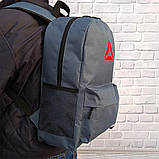 Рюкзак Reebok, рибок. Популярная модель. Серый / R3, фото 8