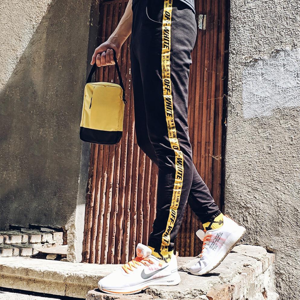 Спортивные штаны в стиле Off White 5400 черные с желтым