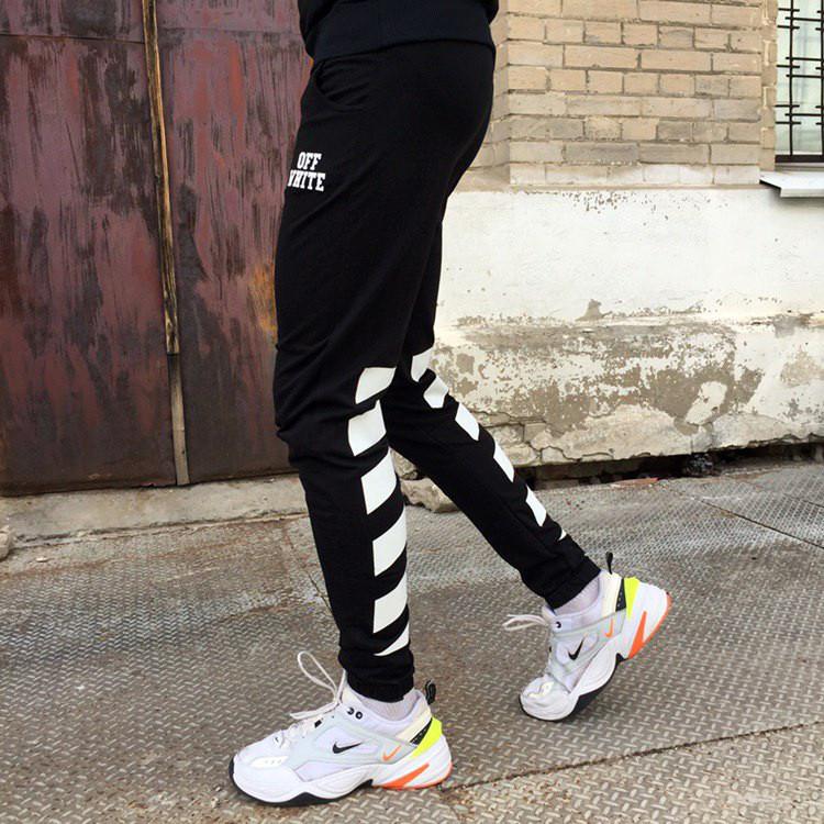 Спортивные штаны в стиле Off White полосы