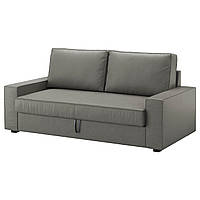 "IKEA ""VILASUND"" Диван раскладной, 3-х местный, Borred серо-зеленый"