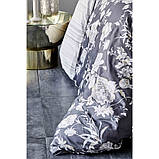 Постельное белье Karaca Home сатин - Elvira antrasit 2019-1 антрацит king size, фото 2