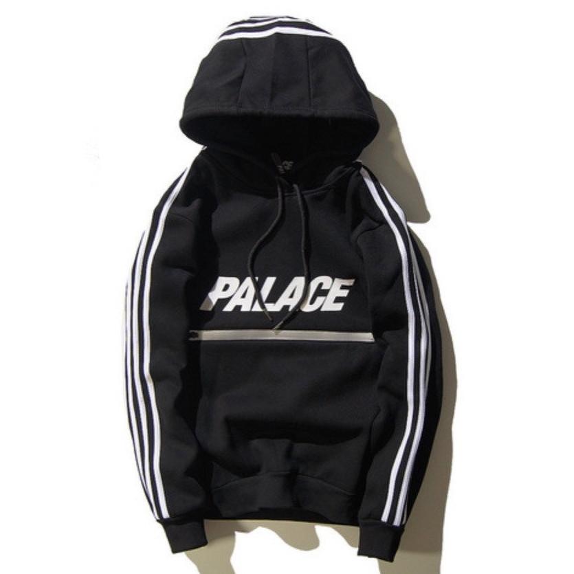 Теплое худи кенгуру Adidas x Palace