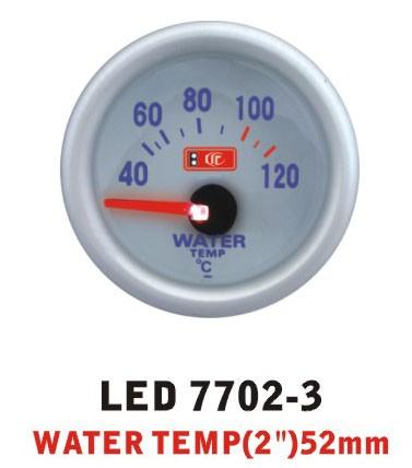 Температура воды 7702-3 LED (water temp) стрелочный диаметр 52мм.
