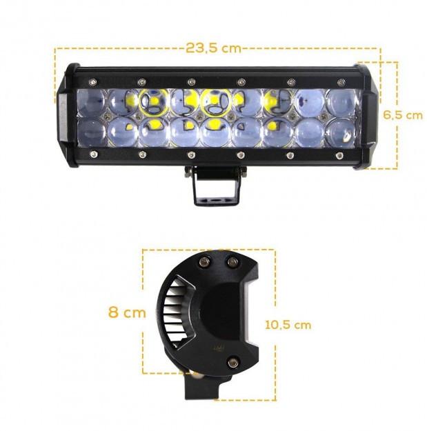 Светодиодная автофара (18 LED) 5D-54W-SPOT Балка на крышу