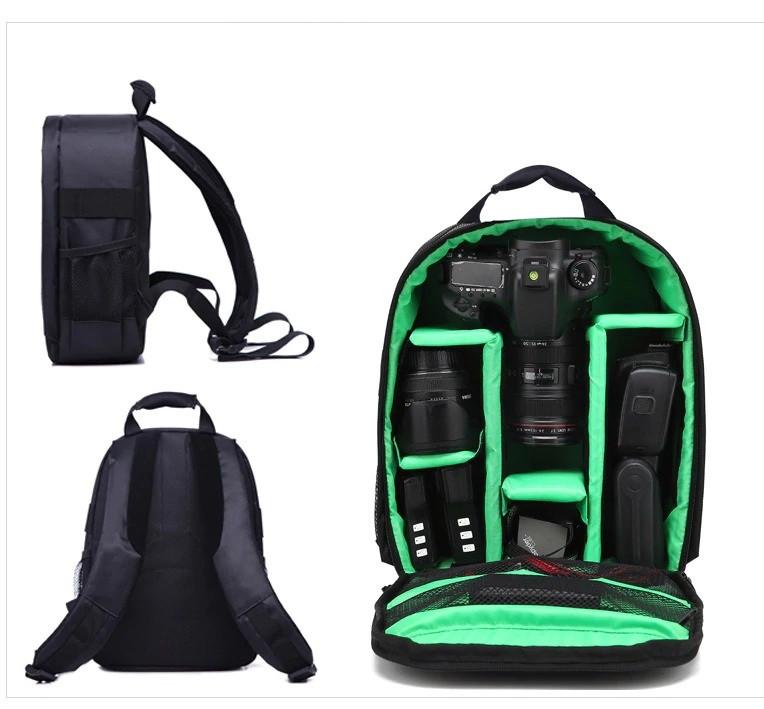 Рюкзак Xinquan для фотоаппарата, сумка для фотоаппарата зеркального Green