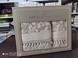 Набір махрових рушників бамбук 50*90 і 70*140 TM PUPILLA Туреччина Cappy penya 3D, фото 2