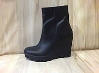 Черные кожаные ботиночки