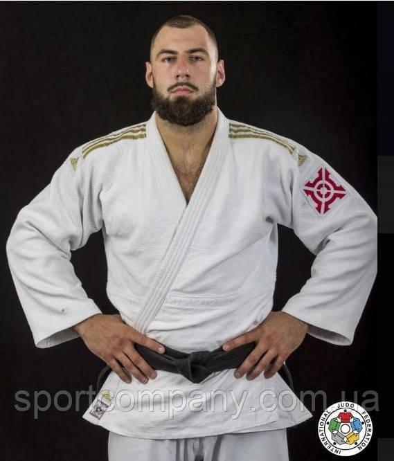 Кимоно для дзюдо Champion ||, золотые полосы (белое, J-IJF-SMU)