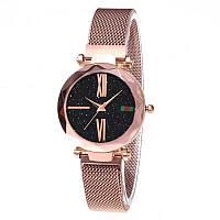 Женские часы Starry Sky Watch с римскими цифрами часы звездного неба c магнитным ремешком Золотой
