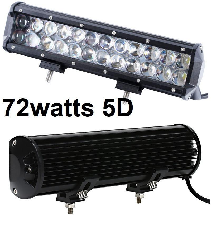 Светодиодная автофара Лед (24 LED) 5D-72W-SPOT Балка на крышу