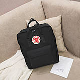 Комплект сумка, рюкзак + Органайзер Fjallraven Kanken Classic, канкен класик с отделением для ноутбука. Черный, фото 9