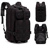 Тактический, походный, военный рюкзак Military. 25 L. Черный.  / T410, фото 2