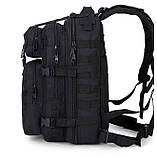 Тактический, походный, военный рюкзак Military. 25 L. Черный.  / T410, фото 6
