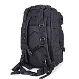 Тактический, походный, военный рюкзак Military. 25 L. Черный.  / T410, фото 7