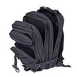 Тактический, походный, военный рюкзак Military. 25 L. Черный.  / T410, фото 8