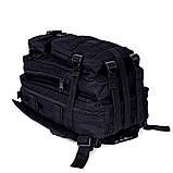 Тактический, походный, военный рюкзак Military. 25 L. Черный.  / T410, фото 10