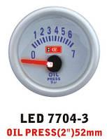 Давление масла 7704 — 3 LED стрелочный диаметр 52мм, фото 1