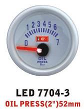 Давление масла 7704 — 3 LED стрелочный диаметр 52мм