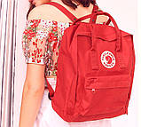 Хит! Комплект рюкзак + органайзер, сумка Fjallraven Kanken Classic, канкен класик. Красный, фото 2