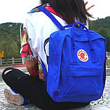 Комплект рюкзак + органайзер, сумка Fjallraven Kanken Classic, канкен класик. Синий (электрик), фото 2