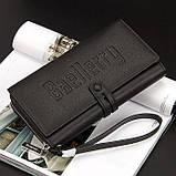 Стильный мужской кожаный клатч, кошелек. Черный. Baellerry Guero. Балери гуеро, фото 7