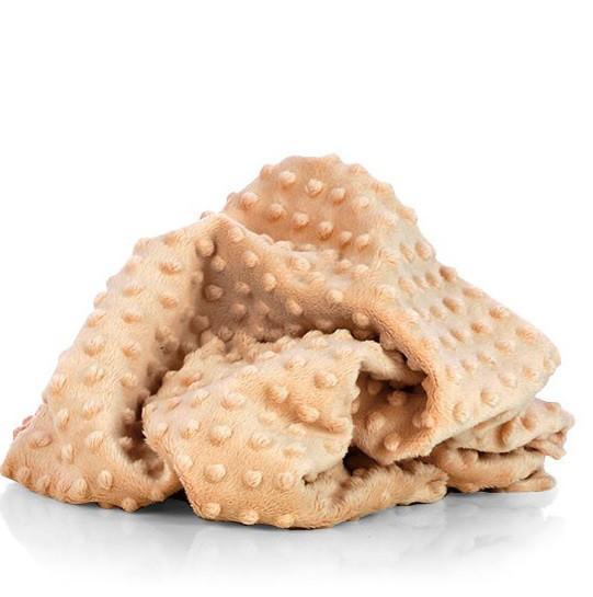 Плюшевая ткань Minky капучино (плот. 380 г/м.кв) ОТРЕЗ (0.75*1.6)