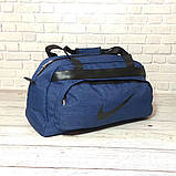 Качественная сумка найк, Nike для спортазала, дорожная. Коттон, полиэстер. Синяя, фото 4
