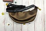 Стильная женская поясная сумочка, бананка Balenciaga, баленсиага. Бронза. Турция., фото 4
