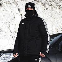 Зимняя мужская парка Adidas Originals черная XXL