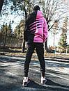 Теплое худи унисекс Пушка Огонь Scratch черно-розовое, фото 2