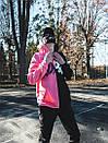 Теплое худи унисекс Пушка Огонь Scratch черно-розовое, фото 9