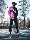 Теплое худи унисекс Пушка Огонь Scratch черно-розовое, фото 10