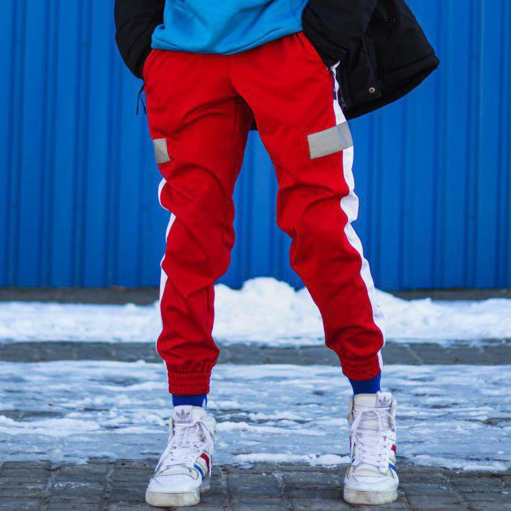 Cпортивные штаны Пушка Огонь Wline красные