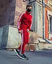 Олимпийка мужская в стиле Adidas Round красная, фото 3