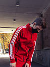 Олимпийка мужская в стиле Adidas Round красная, фото 4