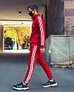 Олимпийка мужская в стиле Adidas Round красная, фото 6