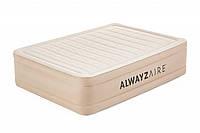 Надувная кровать Bestway 69054 Alwayzaire Fortech 203x152x51см, встроенный электронасос с автоподкачкой, фото 1