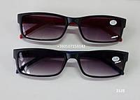 Очки с тонированными прямоугольными линзами. Модель 2125, фото 1