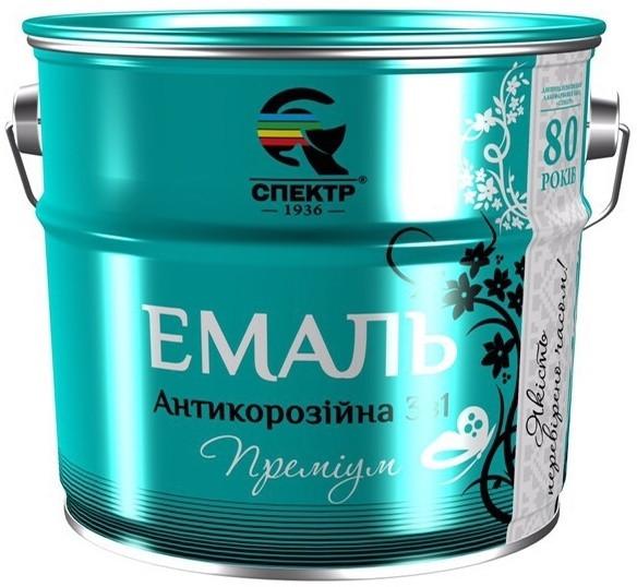 """Эмаль антикоррозионная 3в1 """"Спектр"""" 0.8кг, Серый"""