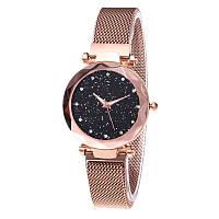 Женские часы Starry Sky Watch с камнями сваровски часы звездного неба c магнитным ремешком Золотой