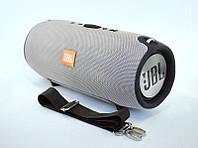 Портативная колонка JBL XTERME 540 (28*12*13) (Bluetooth, USB, FM, 2 дин, ремешок, Soft touch) Grey